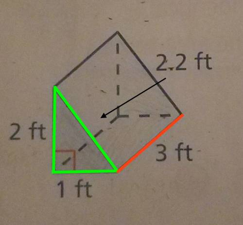 How do you figure out the surface area of this triangular prism
