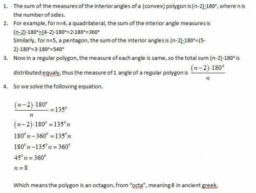 An Interior Angle Of A Regular Polygon Has A Measure Of