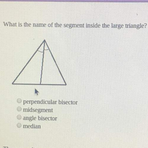 What is the name of the segment inside the large triangle?