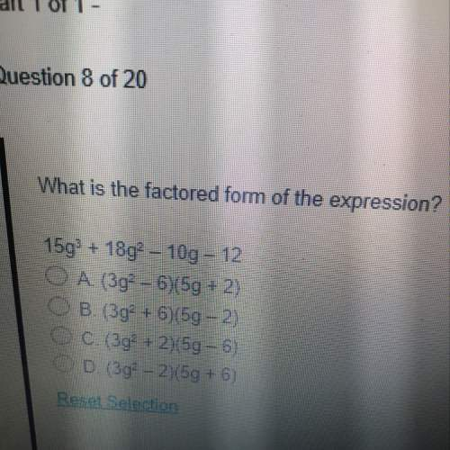 What is the factored form of the expression