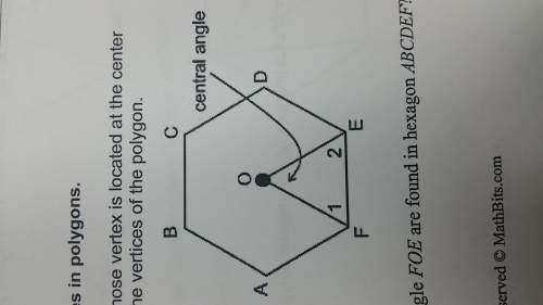 The diagram at the right shows one central angle of a regular hexagon. what type of triangle is tria