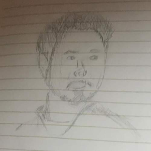 Tony stark // is this a good sketch, what should i fix?